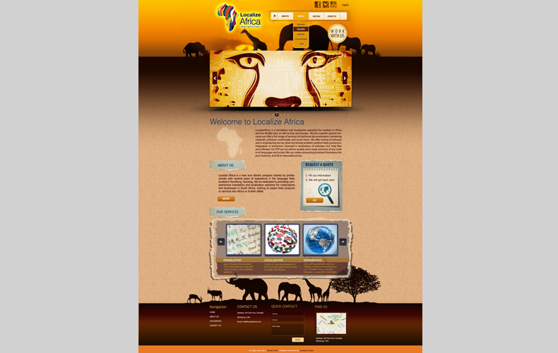 Localize Africa Brand Website Design and Development