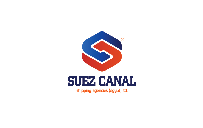Suez Canal for Shipping and Logistics Logo Design.