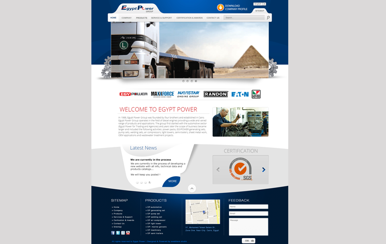 Egypt Power Website Design and Development