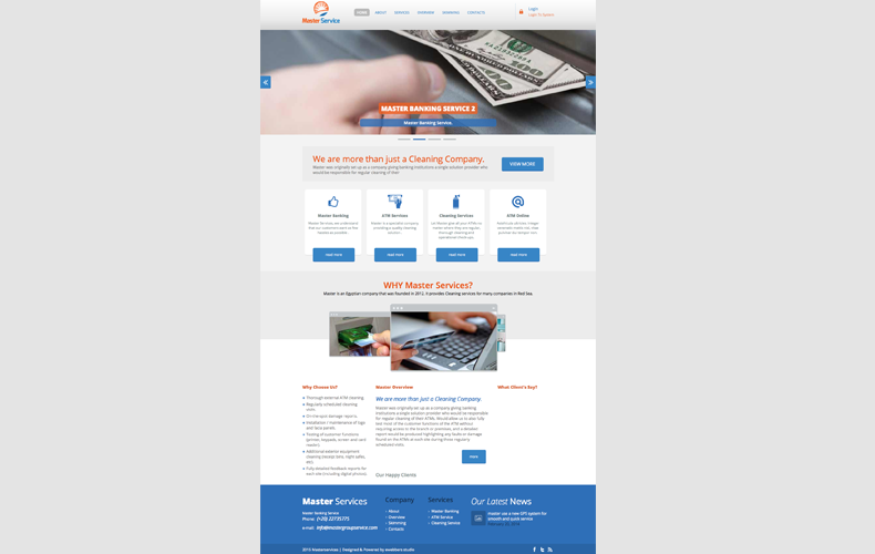 Master Group Service Website Design and Development