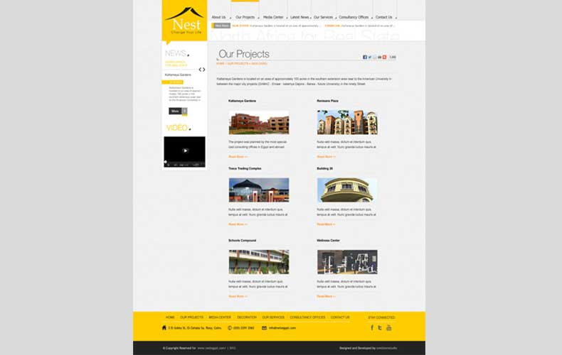 Nest Egypt For Real Estate Website Design and Development