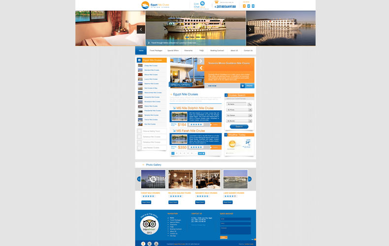 Egypt Nile Cruise Website Design and Development