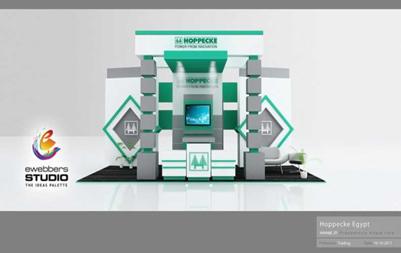 Exhibition Booth Design Concept : Ewebbers hoppecke d exhibition booth design