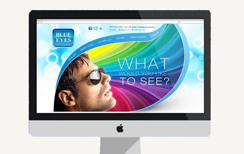 Blue Eyes Website Design Idea