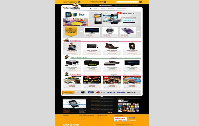 Vendora Store eCommerce Website Design and Development