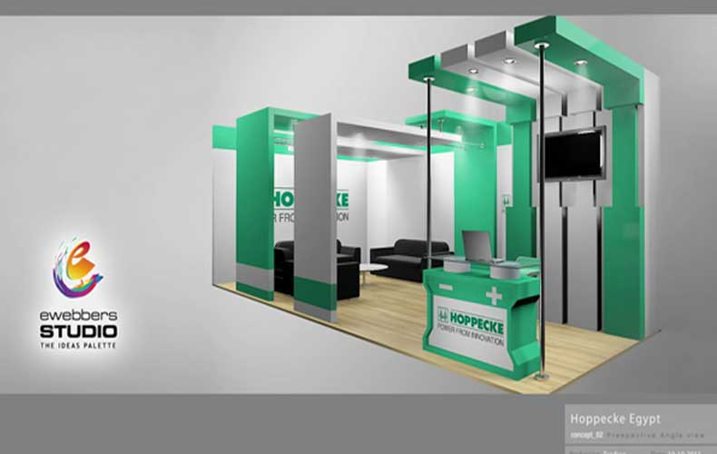 Exhibition Booth Website : Ewebbers hoppecke d exhibition booth design