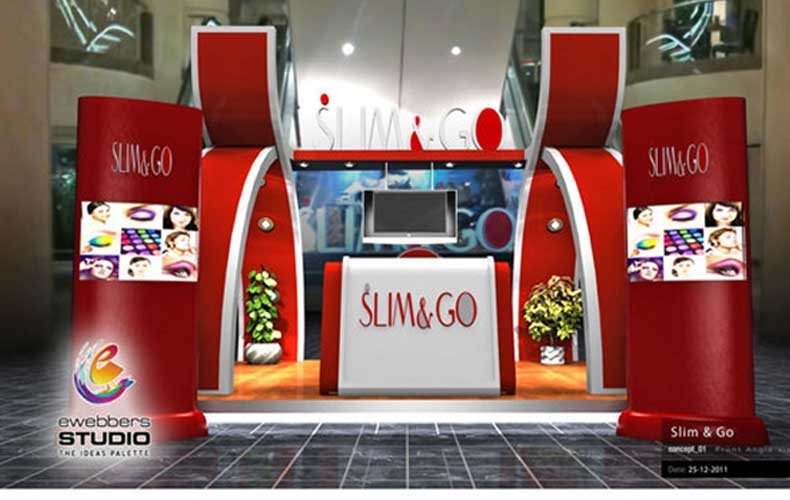 Slim and GO exhibition booth design