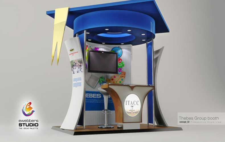 Tieba Schools Group Exhibition Booth Design