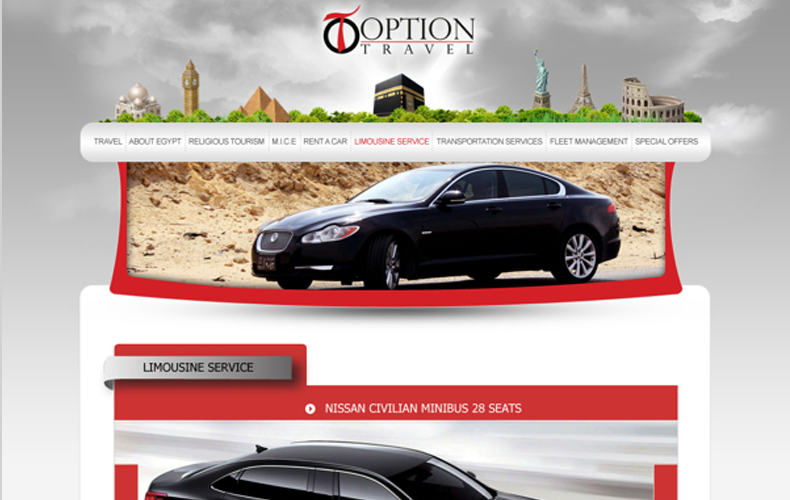 Option Travel Website Design and Development