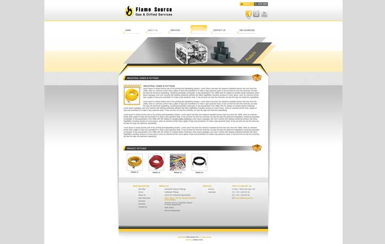Flame Source Website design and development