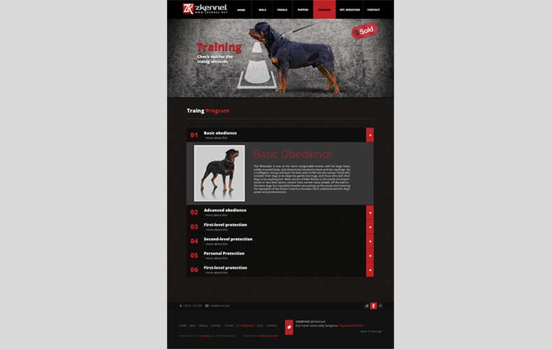 Zkennel Website Design and Development