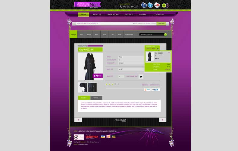Abaya Noir eCommerce Website Design and Development