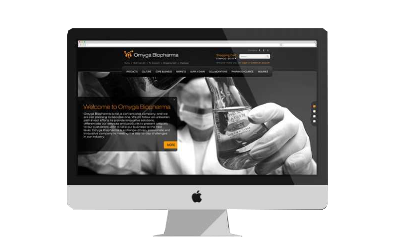 Omyga BioPharma Website Design and Development